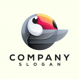 オオハシ鳥のロゴデザイン