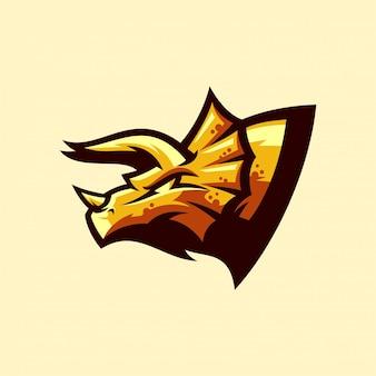 トリケラトプスのロゴ