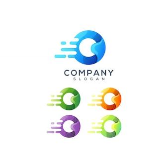 Буква о дизайн логотипа
