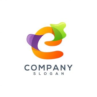 Буква е дизайн логотипа