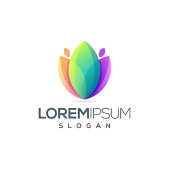 Потрясающий цветочный дизайн логотипа