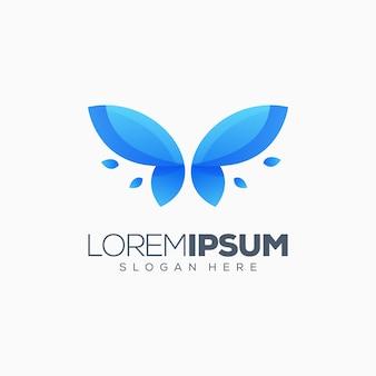 Бабочка дизайн логотипа готов к использованию