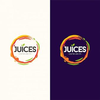 ジュースのロゴデザインベクトル図