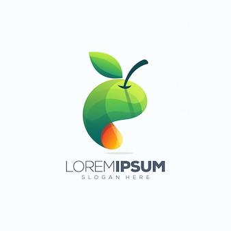 フルーツのロゴデザインベクトル図