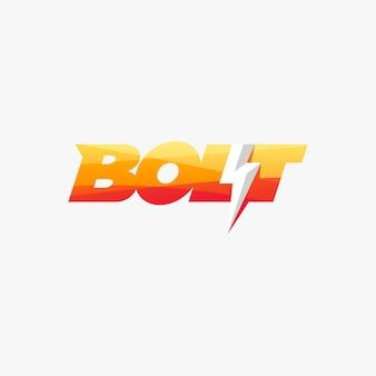 Болт логотип дизайн готов к использованию