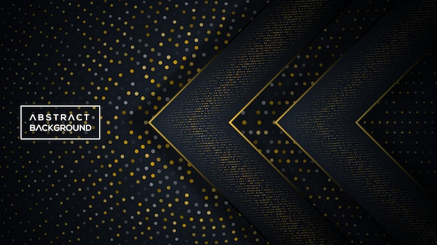 暗いと金色の三次元の背景