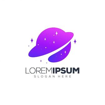 Планета дизайн логотипа векторная иллюстрация