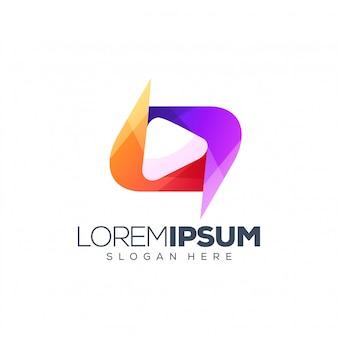 メディアのロゴデザイン
