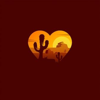砂漠のロゴデザイン