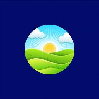 サンライズのロゴデザイン