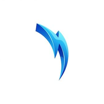 Флэш болт дизайн логотипа