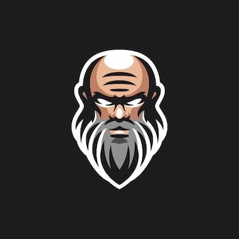 老人のロゴデザイン