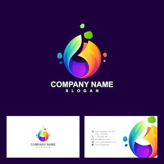 Абстрактный дизайн логотипа и шаблон визитной карточки