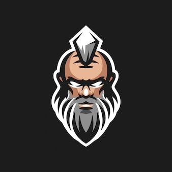 Дизайн головы старика