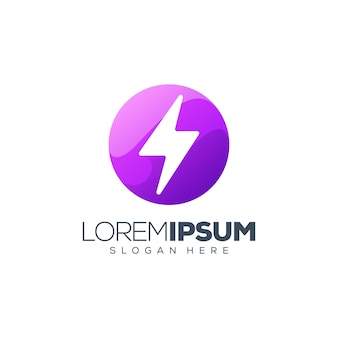 紫色のエネルギーのロゴ