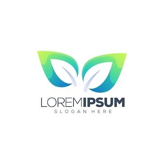 Лист дизайн логотипа вектор
