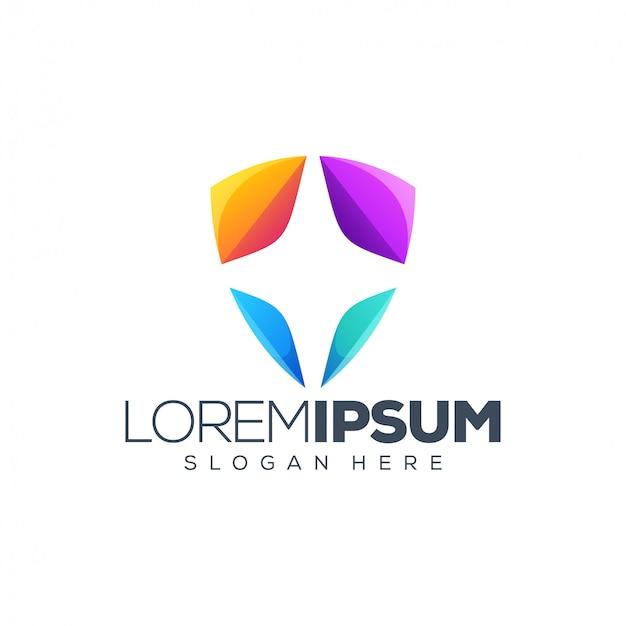 Щит дизайн логотипа
