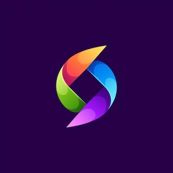 Красочный дизайн логотипа векторная иллюстрация
