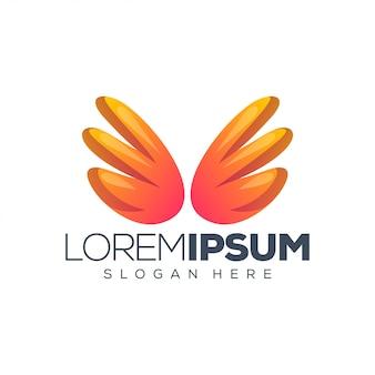 Крылья логотипа дизайн векторная иллюстрация
