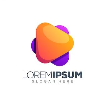 Играть логотип дизайн векторные иллюстрации