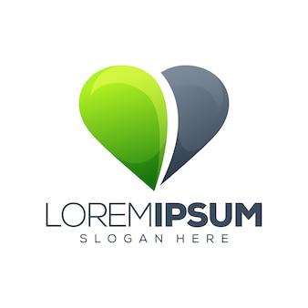 Любовь дизайн логотипа векторная иллюстрация