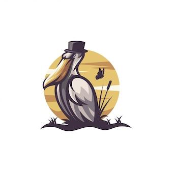 Логотип пеликан