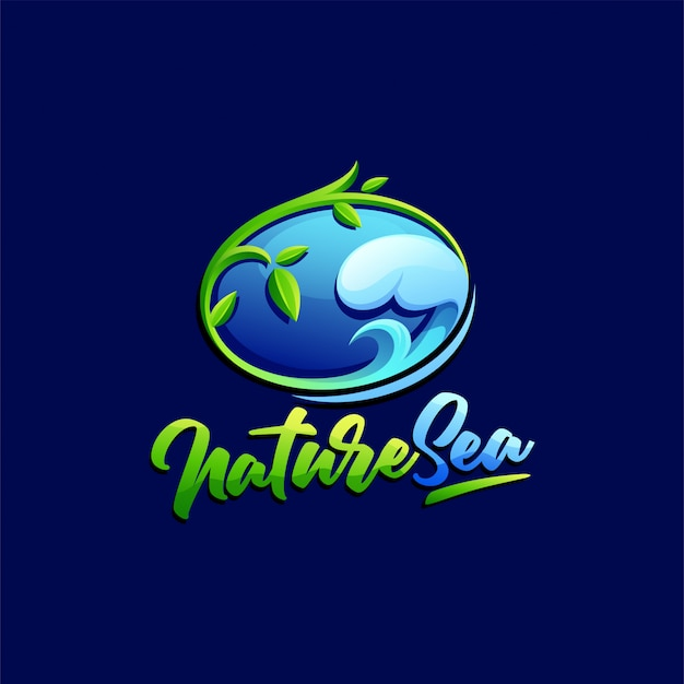 Шаблон логотипа природы