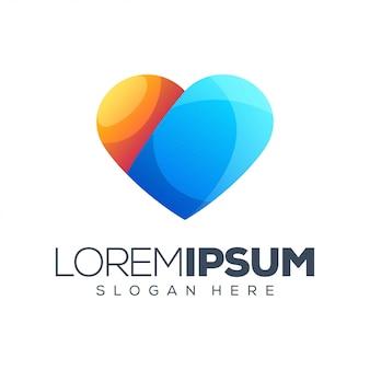 Шаблон логотипа любви