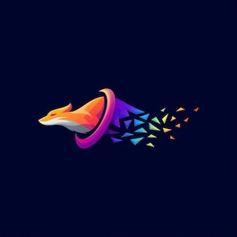 Шаблон логотипа стрелка