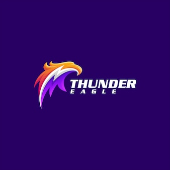 Шаблон логотипа орел гром