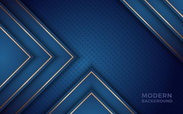 黄金の効果で現実的な青色の背景。