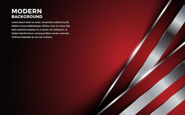 幾何学的な線と抽象的な赤いメタリックな背景