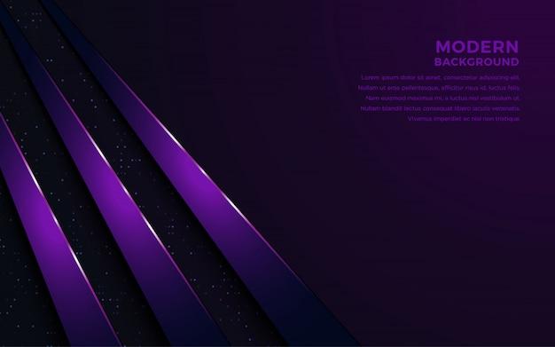 暗闇の中で光と現実的な紫。