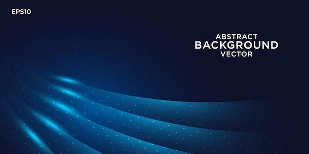 青い光の効果と抽象的な背景デザイン