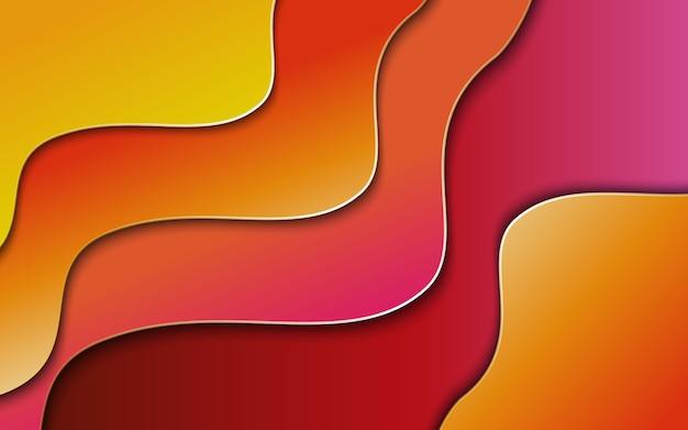 最小限のジオメトリ波形を使用したカラフルな抽象的な背景グラデーション。