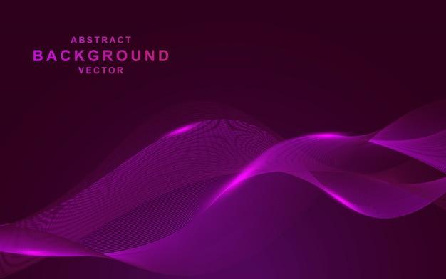 波の抽象的な形と紫色の背景