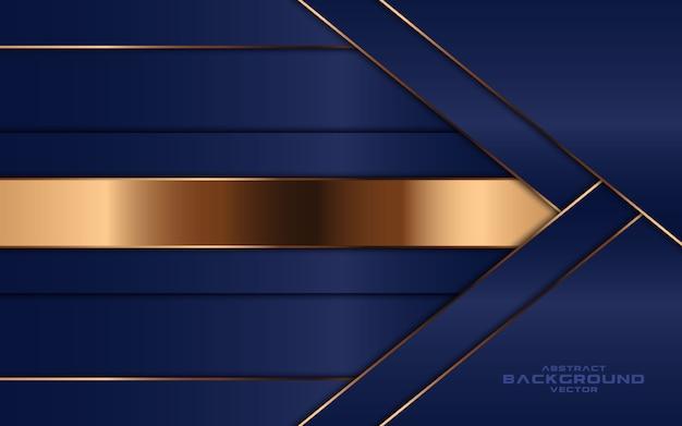 豪華な抽象的なネイビーブルーの重複レイヤーの背景。