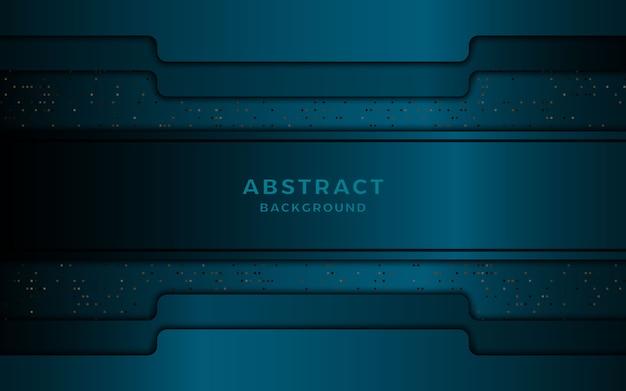 ドット要素と抽象的な青い背景