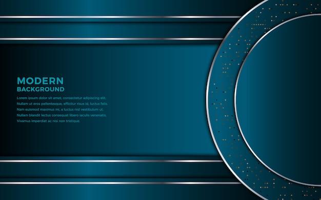 暗い青色のオーバーラップレイヤーと暗い抽象的な背景。