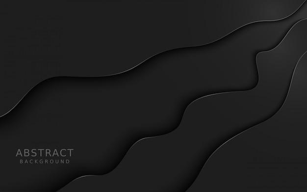 暗い灰色の抽象的な重複背景。