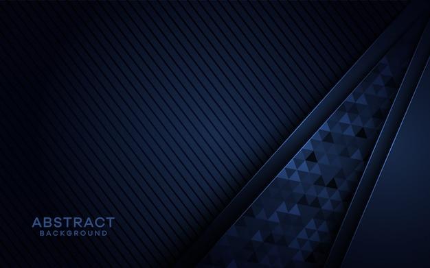 三角形のテクスチャと抽象的な暗い青色の背景。