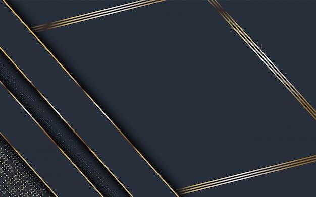 金色の斜めの線で抽象的な暗い背景。