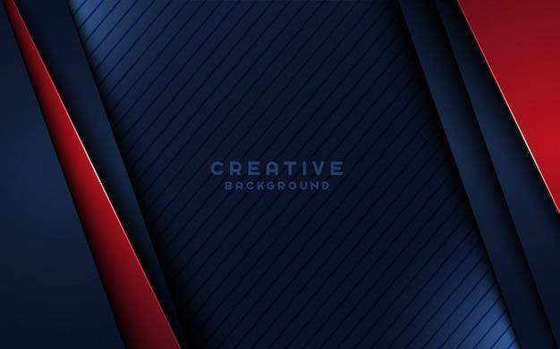 赤いオーバーラップレイヤーと斜めの黒い線で創造的な暗い背景。