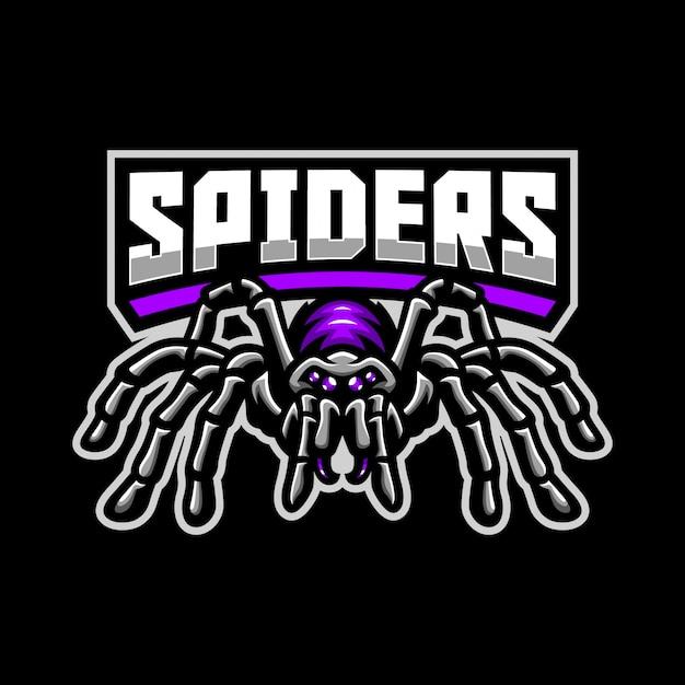 クモのマスコットのロゴのテンプレート