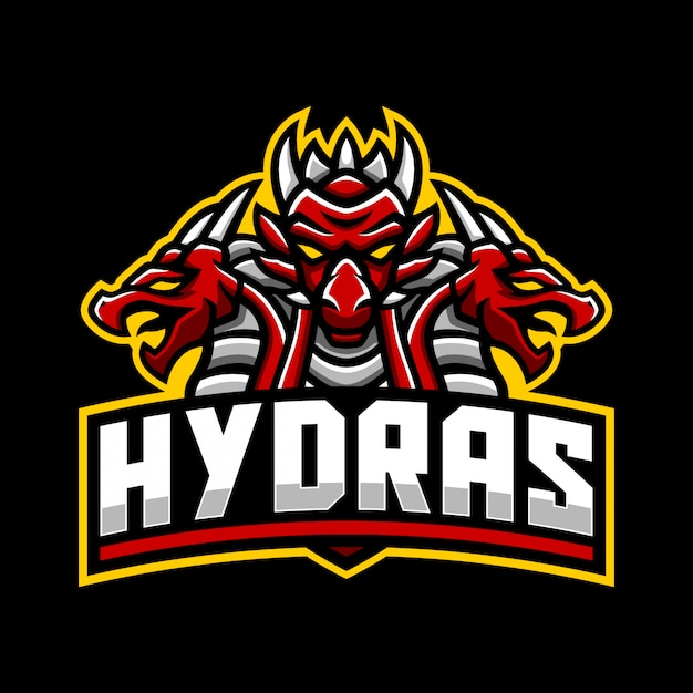 Шаблон логотипа гидра талисман
