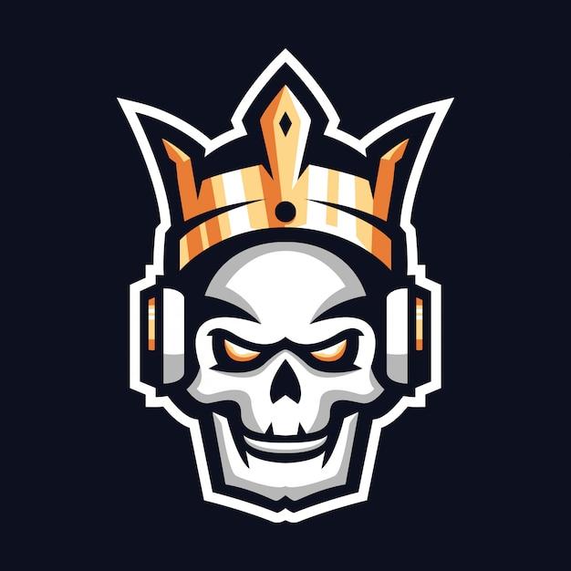 Логотип талисмана короля черепа