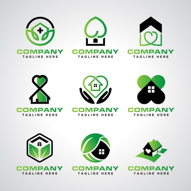 Пакет шаблонов логотипа домашнего ухода