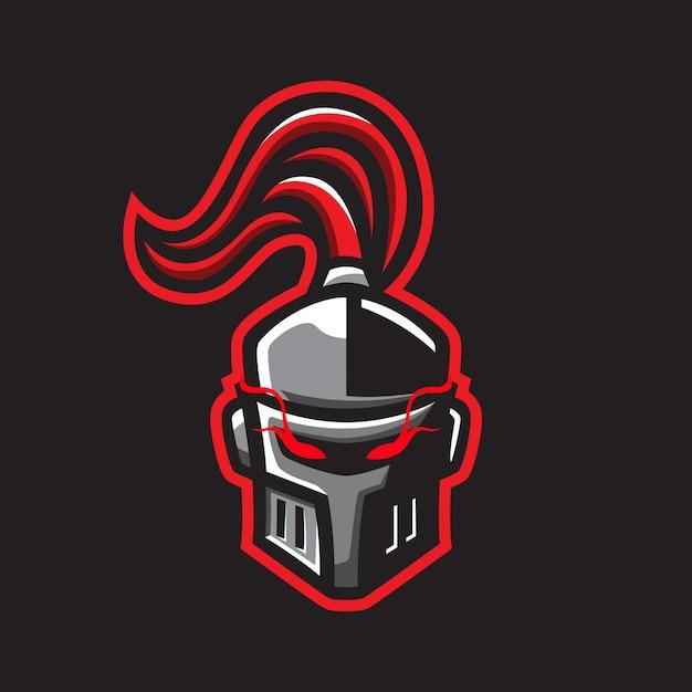 Рыцарь спорт талисман логотип