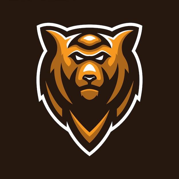 クマの頭のマスコットのロゴ