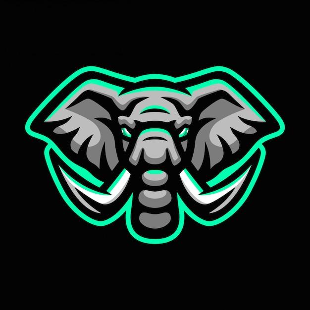 象スポーツマスコットロゴ